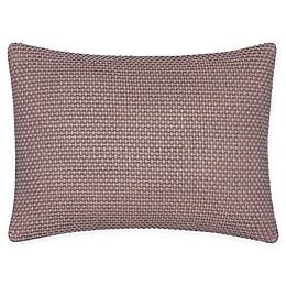 Calvin Klein Woven Diamond Oblong Throw Pillow in Bark