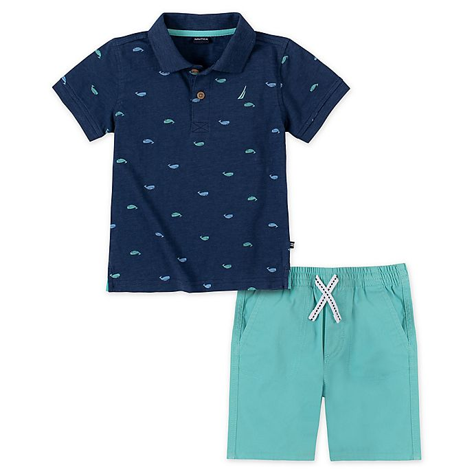Alternate image 1 for Nautica® 2-Piece Polo Short Set