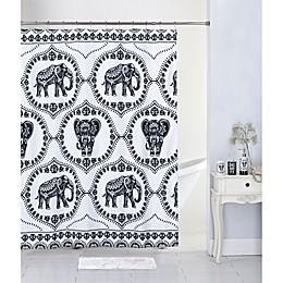 17-Piece Lattice Elephant Bath Collection Set in Black