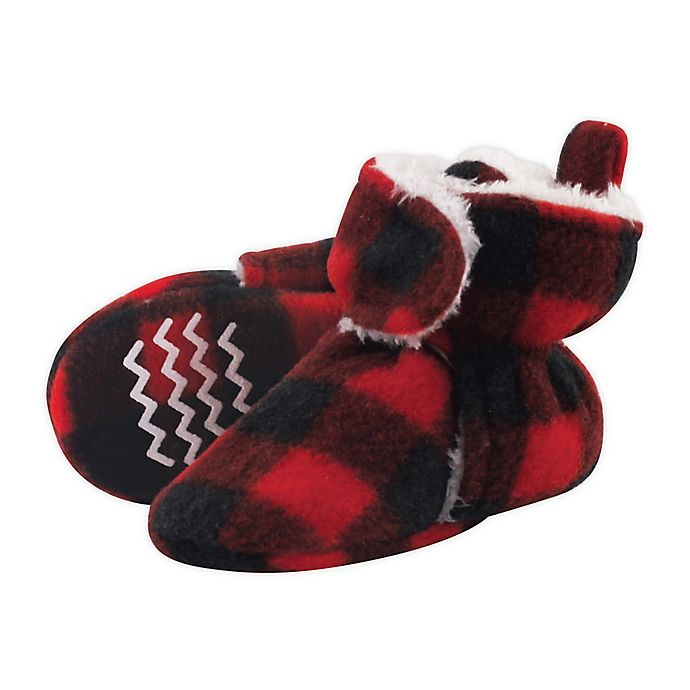 Alternate image 1 for Hudson Baby® Size 0-6M Plaid Scooties in Black