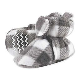 Hudson Baby® Size 6-12M Plaid Scooties in Charcoal