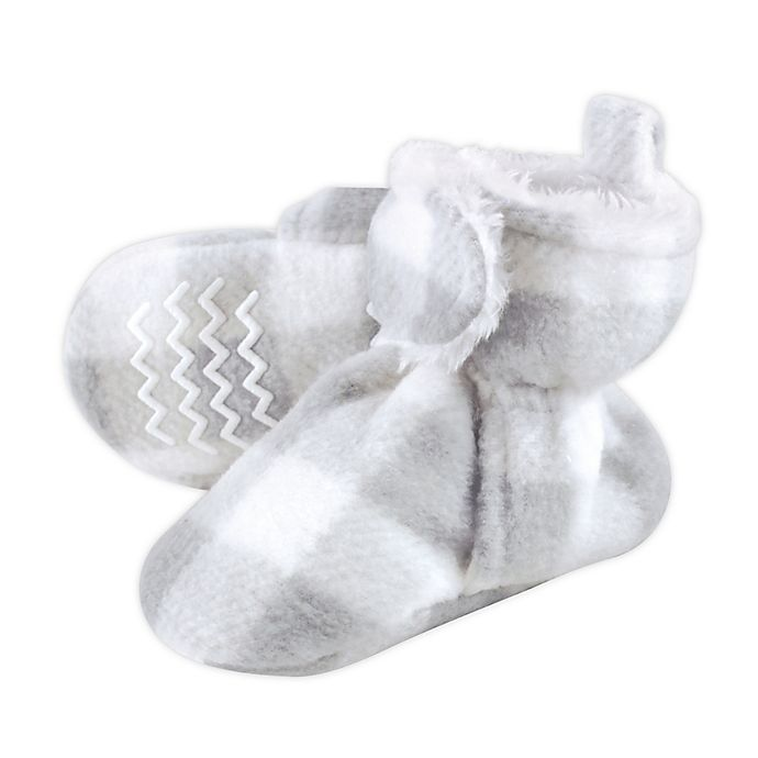 Alternate image 1 for Hudson Baby® Size 18-24M Plaid Scooties in Grey
