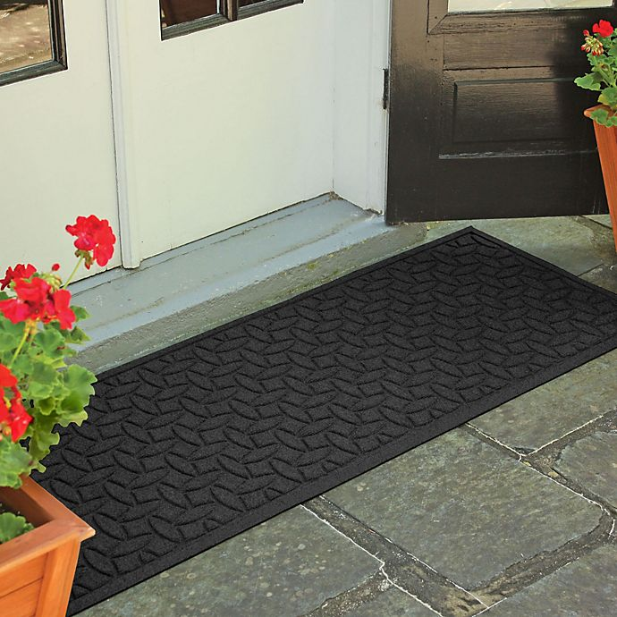 Alternate image 1 for Weather Guard™  Ellipse 22-Inch x 60-Inch Door Mat in Charcoal