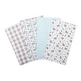 Trend Lab® 4-Pack Flannel Burp Cloth