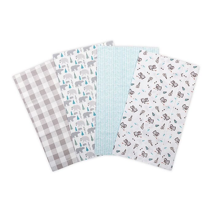 Alternate image 1 for Trend Lab® 4-Pack Flannel Burp Cloth