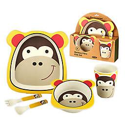 Certified International Bambooware® Monkey 5-Piece Feeding Set in Yellow/Brown