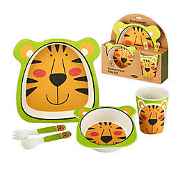 Certified International Bambooware® Tiger 5-Piece Feeding Set in Orange/Green