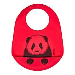 Modern Twist® Panda Bucket Bib in Red