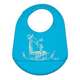 Modern Twist® Giraffe Bucket Bib in Blue