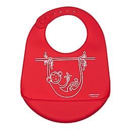 Modern Twist® Monkey Business Bucket Bib in Red