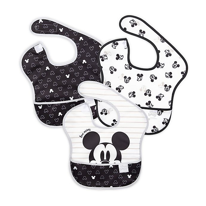 Alternate image 1 for Bumkins® Disney® Mickey Mouse 3-Pack SuperBibs® in Black