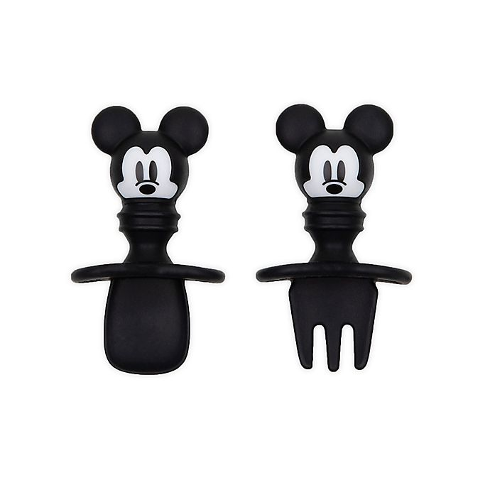 Alternate image 1 for Bumkins® Disney® Mickey Mouse Silicone Toddler Chewtensils™ in Black