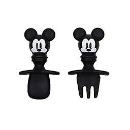 Bumkins® Disney® Mickey Mouse Silicone Toddler Chewtensils™ in Black