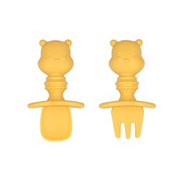Bumkins® Winnie the Pooh Silicone Toddler Chewtensils™ in Yellow