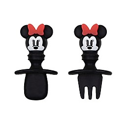 Bumkins® Disney® Minnie Mouse Silicone Toddler Chewtensils™ in Black