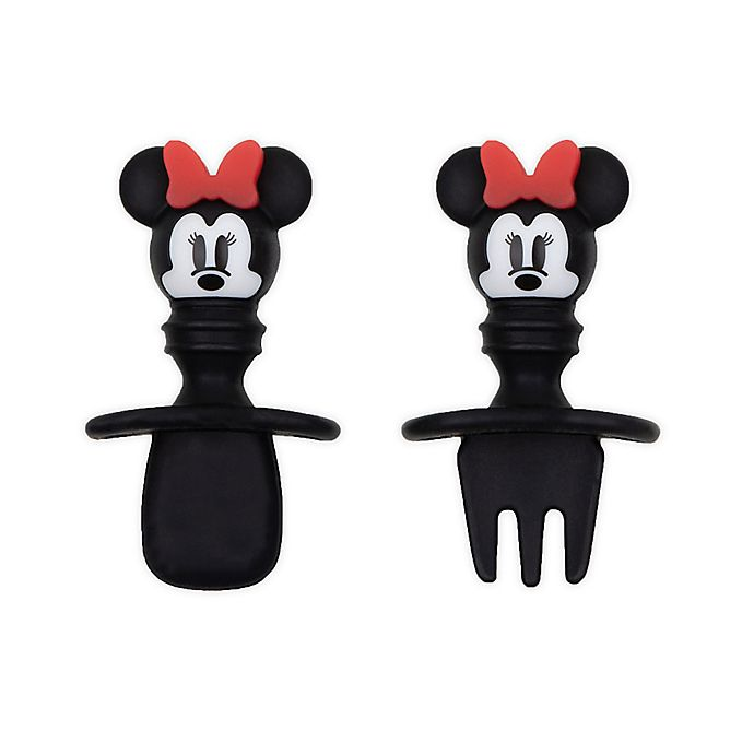 Alternate image 1 for Bumkins® Disney® Minnie Mouse Silicone Toddler Chewtensils™ in Black