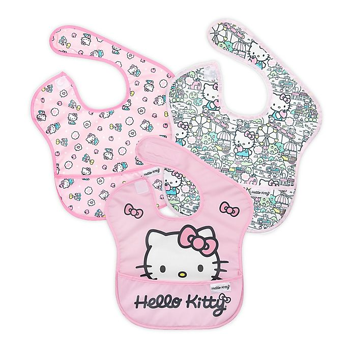 Alternate image 1 for Bumkins® Hello Kitty® 3-Pack SuperBibs® in Black