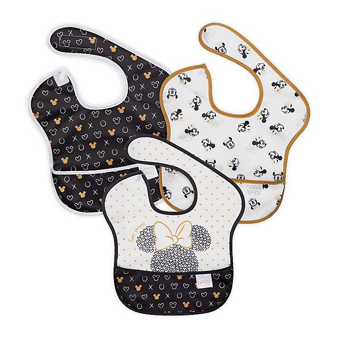 Alternate image 1 for Bumkins® 3-Pack Minnie Waterproof SuperBibs in Black