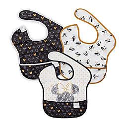 Bumkins® 3-Pack Minnie Waterproof SuperBibs in Black