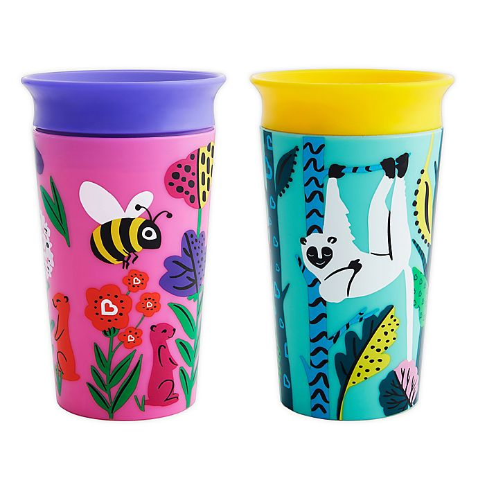 Alternate image 1 for Munchkin® Miracle® 360 WildLove 2-Pack 9 oz. Sippy Cups
