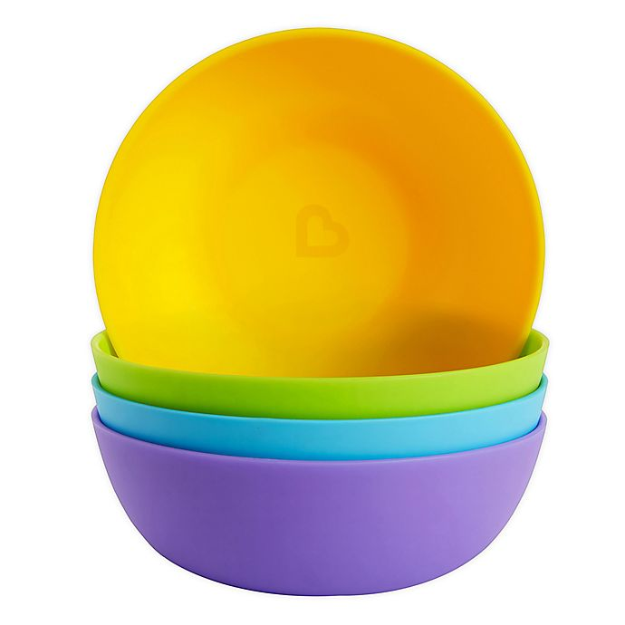 Alternate image 1 for Munchkin® 4-Pack Multicolored Bowls