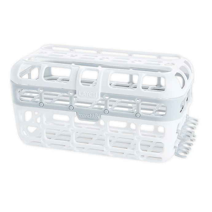 Alternate image 1 for Munchkin®  High Capacity Dishwasher Basket in Grey/White