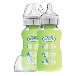 Dr Browns™ Options+ 2-Pack Wide-Neck 9 oz. Glass Bottles