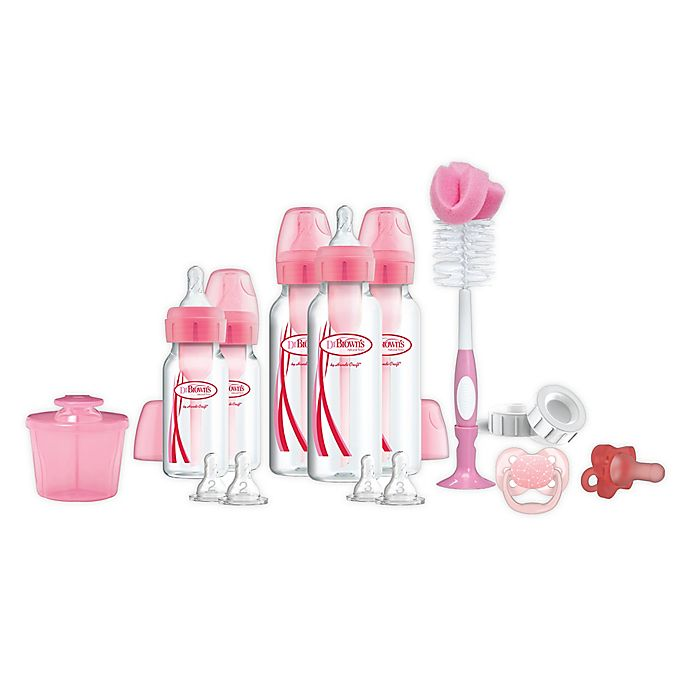 Alternate image 1 for Dr. Brown's Natural Flow® Options+™ 17-Piece Complete Infant Starter Set
