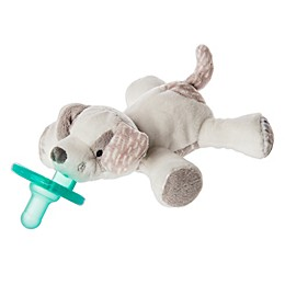 Mary Meyer® WubbaNub™ Puppy Infant Pacifier in White/Grey