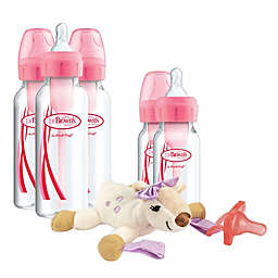 Dr Brown's Natural Flow® 6-Piece Animal Lovey, Bottle and Pacifier Gift Set in Pink
