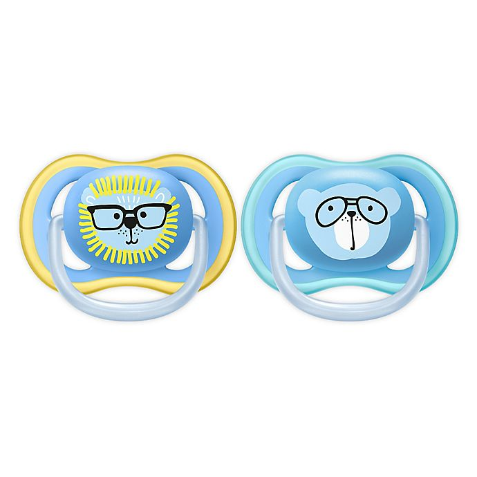 Alternate image 1 for Philips Avent 18-36M Ultra Air 2-Pack Patterns Pacifier