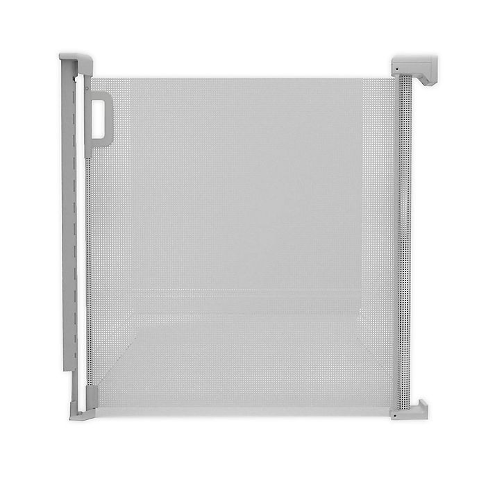 Alternate image 1 for SKIP*HOP® Playview Retractable Mesh Safety Gate in Grey
