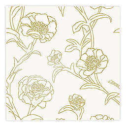 TEMPAPER® Peonies Removable Peel and Stick Wallpaper in Gold