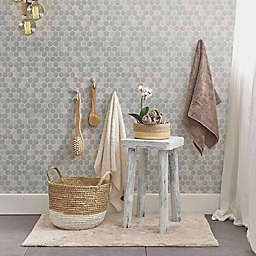 TEMPAPER® Hexagon Tile Removable Peel and Stick Wallpaper in Grey