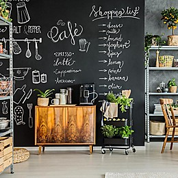 TEMPAPER® Chalkboard Removable Peel and Stick Wallpaper in Black