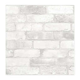 NuWallpaper Loft Brick Removable Peel and Stick Wallpaper in White