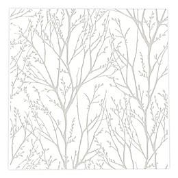 NuWallpaper® Treetops Peel & Stick Wallpaper in White