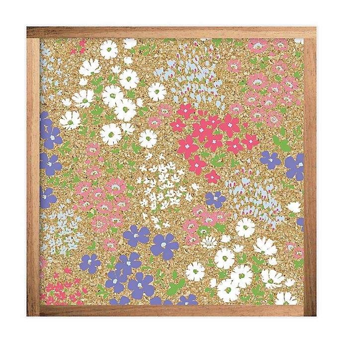 Alternate image 1 for RoomMates® Floral 10-Inch Square Cork Board