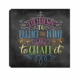 """RoomMates® """"Best Way to Predict the Future"""" 8-Inch x 8-Inch Canvas Wall Art"""