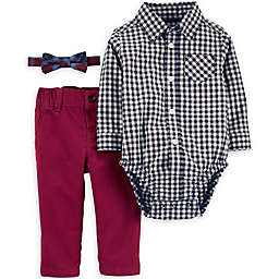 carter's® 3-Piece Checkered Bodysuit, Bow Tie, and Pant Set
