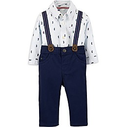 carter's® 3-Piece Penguin Bodysuit, Pant, and Suspenders Set