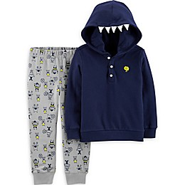 carter's® 2-Piece Monster Hoodie and Pant Set in Navy