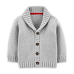 carter's® Button-Up Cardigan in Heather Grey