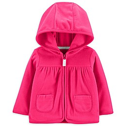 carter's® Dot Hooded Cardigan in Pink