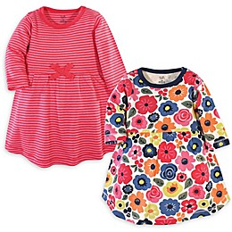 Touched by Nature 2-Pack Bright Flower Organic Cotton Dresses