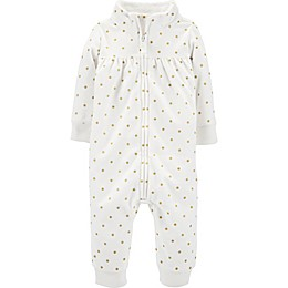 carter's® Glitter Dot Coverall in Ivory