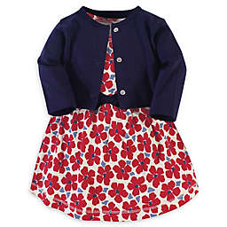 Touched by Nature® 2-Piece Flower Organic Cotton Dress and Cardigan Set