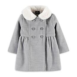 OshKosh B'gosh® Faux Fur Coat in Heather Grey
