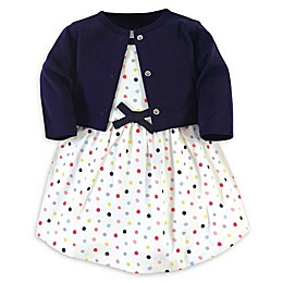 Touched by Nature® 2-Piece Dot Organic Cotton Dress and Cardigan Set