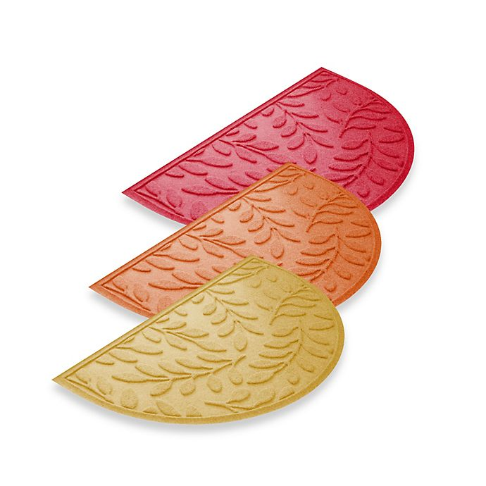 Alternate image 1 for Weather Guard™  Brittney Leaf 24-Inch x 39-Inch Half Oval Door Mat